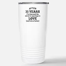 35 Years Of Love And Wine Travel Mug