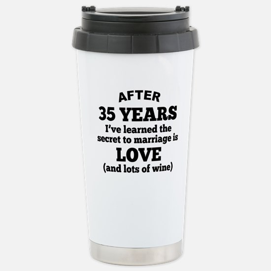 35 Years Of Love And Wine Travel Mug