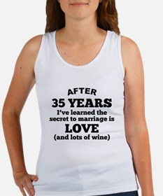 35 Years Of Love And Wine Tank Top