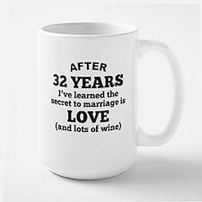 32 Years Of Love And Wine Mugs