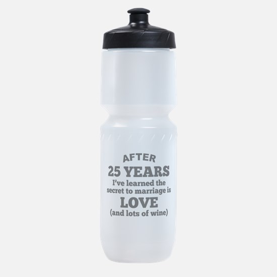 25 Years Of Love And Wine Sports Bottle