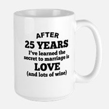 25 Years Of Love And Wine Mugs