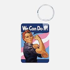 Rosie Transgender Pride Keychains