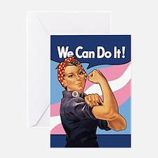 Rosie Transgender Pride Greeting Cards