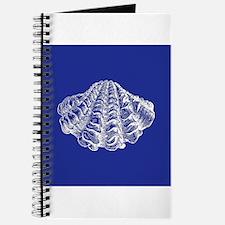 Navy Blue Seashell Journal