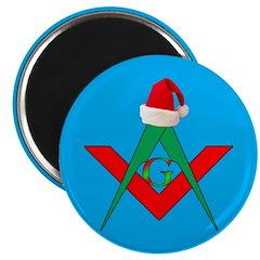 Santa hangs his hat Magnet