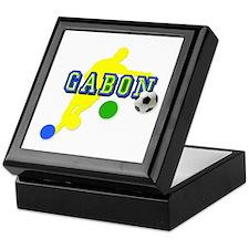 Gabon Soccer Player Keepsake Box