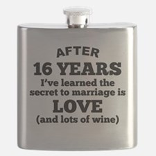 16 Years Of Love And Wine Flask