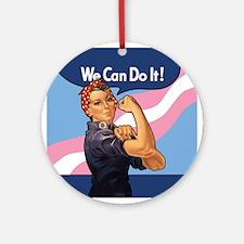 Rosie Transgender Pride Ornament (Round)