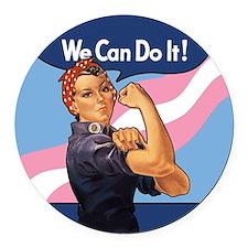 Rosie Transgender Pride Round Car Magnet