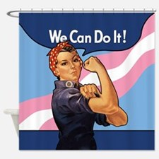 Rosie Transgender Pride Shower Curtain