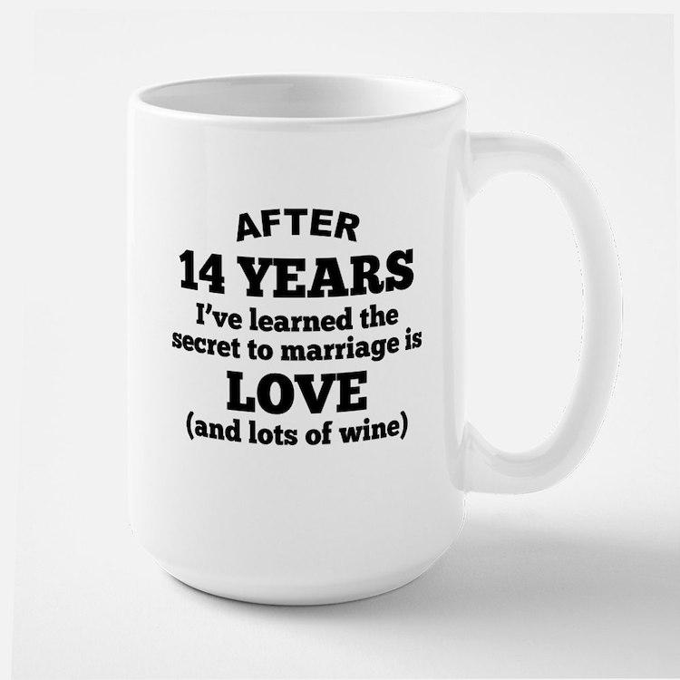 14 Years Of Love And Wine Mugs