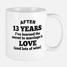 13 Years Of Love And Wine Mugs