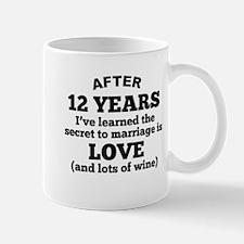 12 Years Of Love And Wine Mugs