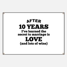 10 Years Of Love And Wine Banner