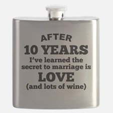 10 Years Of Love And Wine Flask