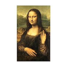 Mona Lisa Flip Off Rectangle Decal