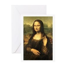 Mona Lisa Flip Off Greeting Card