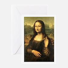 Mona Lisa Flip Off Greeting Card