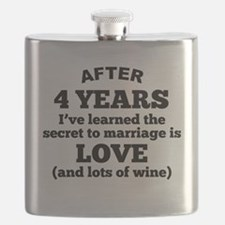 4 Years Of Love And Wine Flask