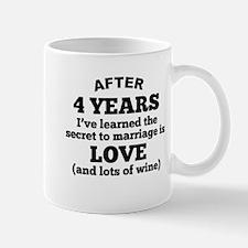 4 Years Of Love And Wine Mugs