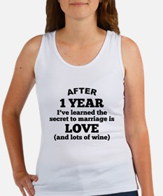 1 Year Of Love And Wine Tank Top