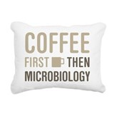 Coffee then microbiology Rectangle Canvas Pillows