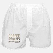 Coffee Then Microbiology Boxer Shorts