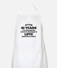 40 Years Of Love And Beer Apron