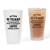 40th anniversary beer Pint Glasses