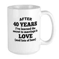 40 Years Of Love And Beer Mugs