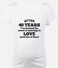 40 Years Of Love And Beer Shirt
