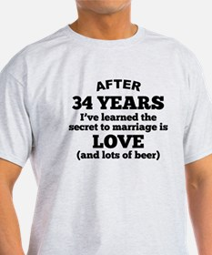 34 Years Of Love And Beer T-Shirt