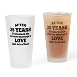 25th wedding anniversary Drinking Glass