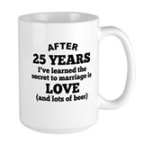 25th anniversary Large Mugs (15 oz)