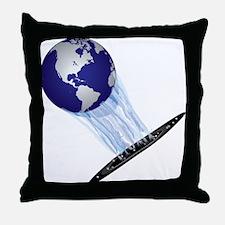 Earth World Throw Pillow