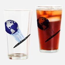 Earth World Drinking Glass