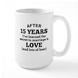 Anniversary 15 years Coffee Mugs