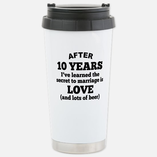 10 Years Of Love And Beer Travel Mug