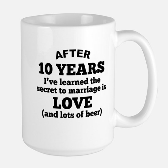 10 Years Of Love And Beer Mugs