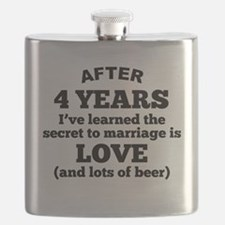 4 Years Of Love And Beer Flask