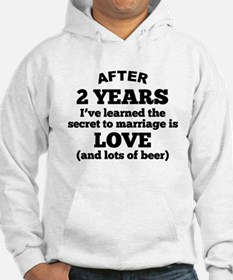 2 Years Of Love And Beer Hoodie
