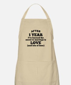 1 Year Of Love And Beer Apron