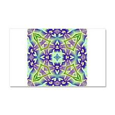 Green and Lavender Plumeria Med Car Magnet 20 x 12