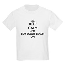 Keep calm and Boy Scout Beach Maryland ON T-Shirt