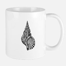 Black and white Conch shell Mugs