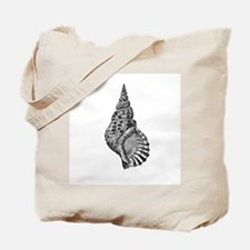 Black and white Conch shell Tote Bag