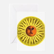 Antique Sun Greeting Cards