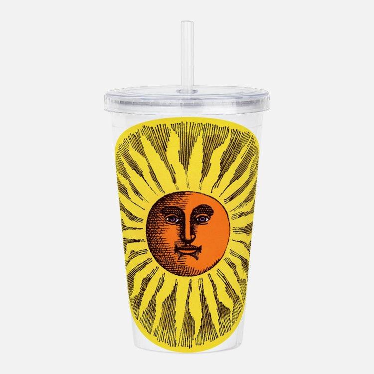 Antique Sun Acrylic Double-wall Tumbler