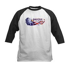 Born Free Bald Eagle And USA Flag Baseball Jersey